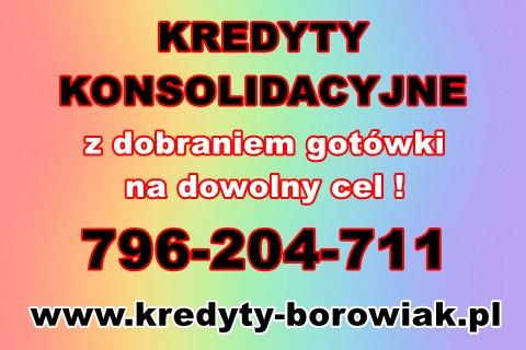Kredyty Konsolidacyjne Z Dobraniem Gotówki! Cała Polska! Zadzwoń !
